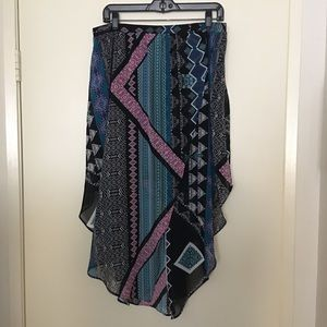 NWT Express multi color Skirt Large